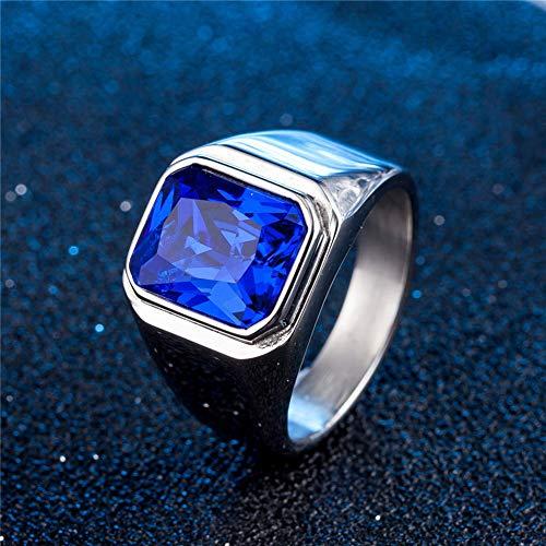Anillo de acero de titanio para hombres y mujeres, parejas, souvenir de 6 colores de acero de color azul