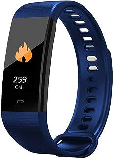 IF.HLMF - Pulsera Inteligente con Monitor de Actividad física, Monitor de Ritmo cardíaco, Monitor de sueño, 3 Tipos de Tiempo, Color Verde, Color Azul
