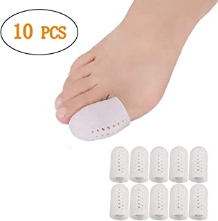 Big Toe Protector, 10PCS Breathable Gel Toe Cap Silicone Toe Cover Sleeves with Holes, Provides Relief from Missing or Ingrown Toenails, Corns, Blisters, Hammer Toes, Reduce Friction