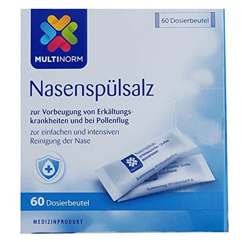 Nasenspül-Salz - Vorratspackung - 60 Dosierbeutel à 2,25 g - zur Vorbeugung von Erkältungskrankheiten und bei Pollenflug