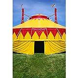 Cassisy 2x3m Vinilo Circo Telon de Fond Al Aire Libre Carpas Coloridas del Circo Campos de Hierba...