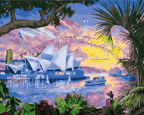 Wooden Puzzles 1000 Pieces Puzzles Game Sydney Opera House Classic Jigsaw Puzzle Adult Children Puzzle DIY Buildings Home Decor Festival Gift Intellectual Game Wall Art