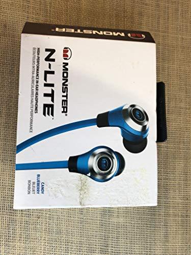 Monster N-Lite In-Ear Headphones, Candy Blueberry
