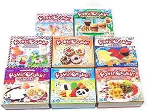 Popin' Cookin Diy Candy Kit (8 Pack Varieties) - Tanoshii Bento, Ramen and Waffle, Cakes, Sushi and Donuts, Hamburger, and Kawaii Gummy Land in Fusion Select Gift Box