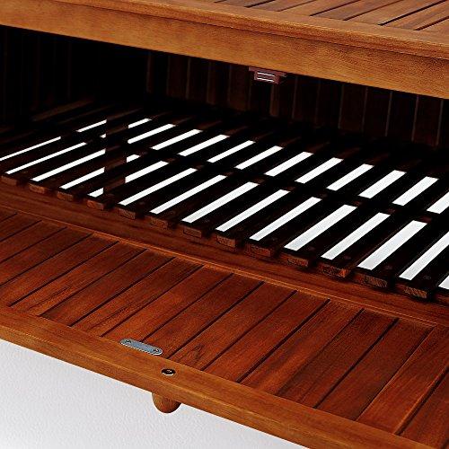 Gartenbank 2in1 ✔ mit Auflagenbox ✔ inkl Sitzauflage 120cm – Sitzbank Holzbank Parkbank Bank - 8