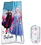 Frozen 68 x 138 cm 2 Saco de Dormir Acampada y Senderismo Infantil, Juventud Unisex, Multicolor (Multicolor), Talla Única