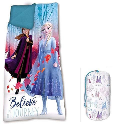 Frozen 68 x 138 cm 2 Sacco a pelo per campeggio ed escursionismo, per bambini, unisex, multicolore, taglia unica