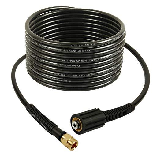 Alargador de manguera de alta presión de 20 m, NW 6 x 1, 200 bar, 60 °C, conexiones M22 x 1,5 IG/M22 x 1,5 AG para limpiador de alta presión