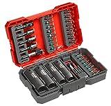 kwb 109020 - Juego de puntas para destornillador de impacto (35 piezas, con portapuntas y llaves de vaso resistentes a los golpes, ejes E C 6.3)