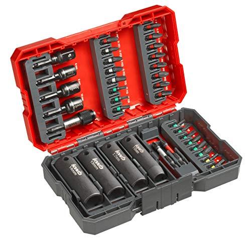 kwb 109020 bit box per imputazione / chiave di impatto Bunitet da 35 pezzi con porta bit e chiavi plug-in resistenti agli urti, e c 6.3 alberi