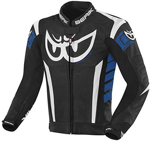 Berik Zakura Motorrad Lederjacke 48 Schwarz/Weiß/Blau
