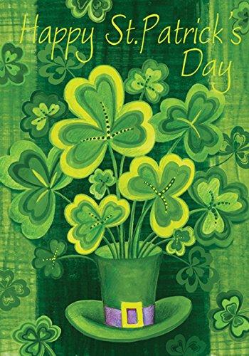 Toland Home Garden Shamrockin' 12.5 x 18 Inch Decorative Happy St Patrick's Day Shamrock Clover...