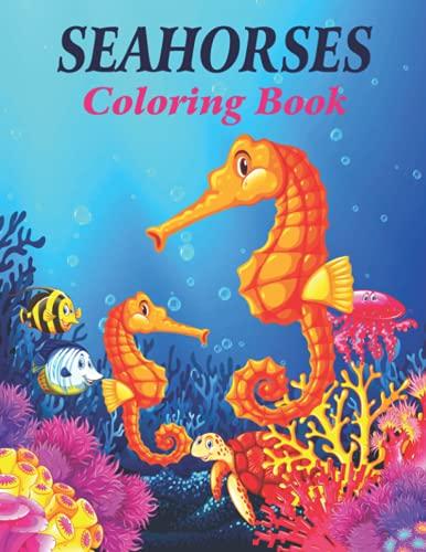 Libro para colorear de caballitos de mar: un libro de 170 páginas (adolescentes y adultos) con diseño divertido y fácil de relajar.