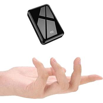 モバイルバッテリー 小型 軽量 13800mAh 携帯バッテリー 大容量 コンパクト (PSE認証済) LCD残量表示 鏡面仕上げデザイン 持ち運び便利 急速充電 ミニ 携帯充電器 ipad/iPhone/Android 機種対応 出張 旅行 地震防災 アウトドア活動 黒