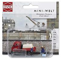 Busch Environnement - BUE7712 - Modélisme Ferroviaire - Scénette - Distribution d'eau - Par Les Pompiers
