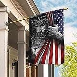FLAGWIX Flags-Jesus. Christian. Don't Be Afraid. Just Have Faith Flag TRL06F, House Flag (29.5' x 39.5')-USA House Garden Flags Premium Polyester-Decorative Outdoor Flags