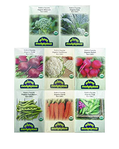 Premium Winter Vegetable Seeds Collection.Certified Organic Non-GMO Heirloom Seeds USDA Lab Tested....