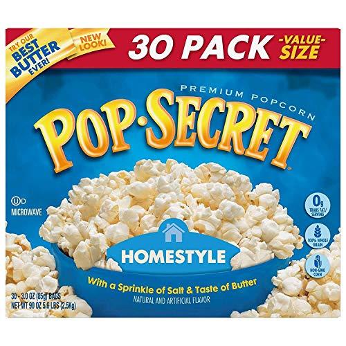 Pop Secret Home Style Popcorn, 30 Count, 3 Ounce Bags