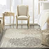 Nourison Aloha Indoor/Outdoor Floral Natural 5'3' x 7'5' Area Rug (5' x 8'), 5'3'X7'5',