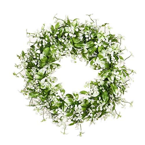 Planta Artificial de la Guirnalda de la simulación de la Hoja Blanca Garland Gypsophila para Wall Oficina Puerta Frente decoración de la Boda