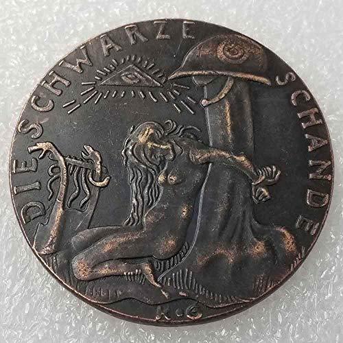 DDTing Antike Deutsche Silber-Dollar-Münzen – 1920 Schwarze Sam-Medaille für Mädchen alte Münzen – Silber Old Original Pre Morgan Dollar GoodService