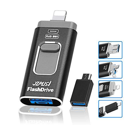 YZPUSI Chiavetta USB 32gb 4 in 1 USB 3.0 32 GB Flash Chiavetta Memoria USB Memoria Esterna Connector