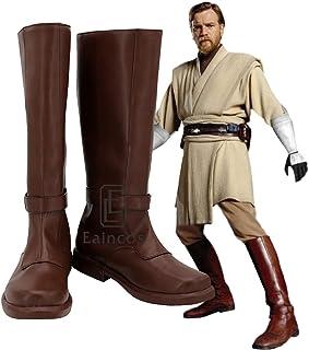 Star Wars Jedi Knight Obi-WAN Kenobi Stivali Cosplay Scarpe da Festa su Misura 44 Dimensioni Uomo