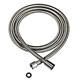 Shower Hose WATER BOGER 79 Inches Flexible Stainless Steel Extra Length, Handheld Shower Hose Pipe for Bathroom Shower Sprayer Hose Replacement with Brass Insert, Brushed Nickel