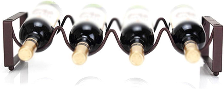 Red Wine Shelf Wine Rack Wine Rack, Creative Crafts, Can Put 3 4 6 Bottles of Wine,Size 35 cm Long 11.5 cm High, 45 cm Long 11.5 cm High, 35 cm Long 23Cm High @ (Size   45 cm Long 11.5 cm High)