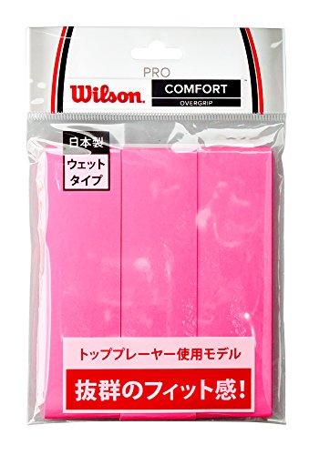 Wilson(ウイルソン) テニス バドミントン グリップテープ PRO OVERGRIP(プロオーバーグリップ) 3個入り ピンク WRZ4020PK ウィルソン