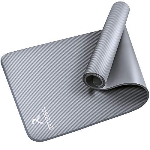 arteesol Yogamatte Non-Slip NBR Material Gymnastikmatte 185cm * 80cm * 1/1,5cm Fitnessmatte für Yoga Pilates Fitness Workout & Gymnastik Trainingsmatte (Grau, 185x80x1cm)