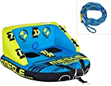MESLE Tube Package Formula 2, with 60' Towrope, Towable-Couch, Fun-Tube, blue green, Multirider for 2 Person,...