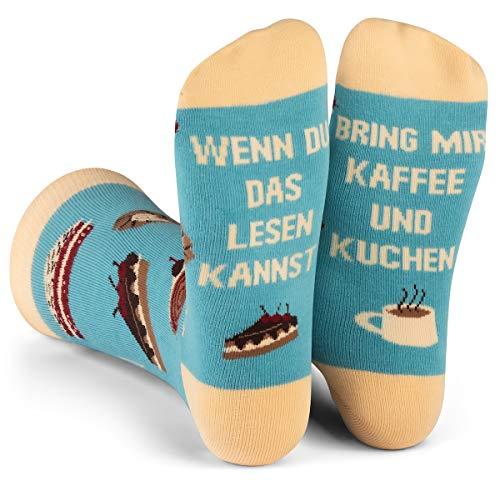 Lavley Wenn Du Das Lesen Kannst Bring Mir Lustig Socken für Frauen und Männer (Kaffee Und Kuchen)