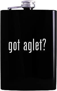 got aglet? - 8oz Hip Alcohol Drinking Flask, Black