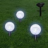 VIENDADPOW Lámparas de Bola jardín LED Anclajes y Paneles...
