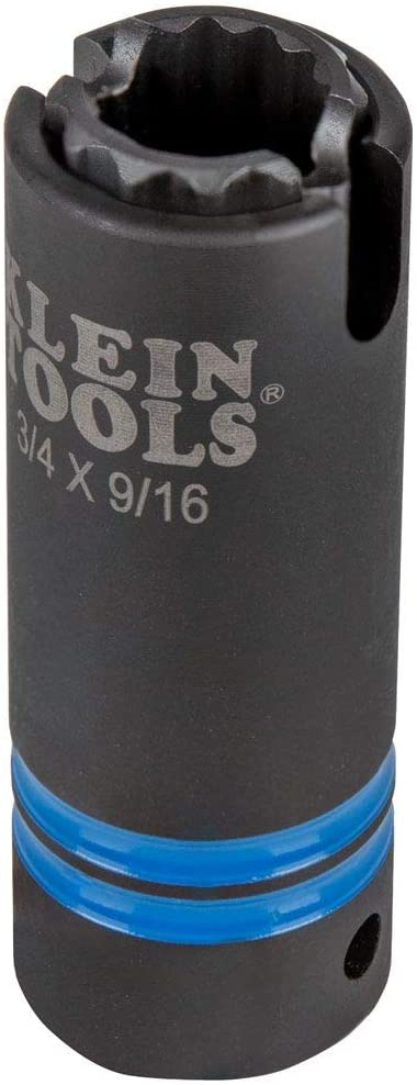 Klein Tools 66031 Brand Max 79% OFF new 3-in-1 Slotted 12-Point Impact Socket So Deep