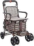 Rollator Walker Medical Walker para personas mayores y adultos que caminan Movilidad Aid Walker Rollator con asiento acolchado y respaldo y pie frenos con llave para ancianos (Color : Default)