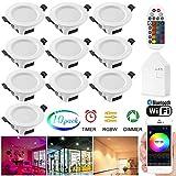 Foco LED empotrable regulable 5 W RGBWC, lámpara de techo para baño, salón, cocina, KTV, bares, 10 unidades