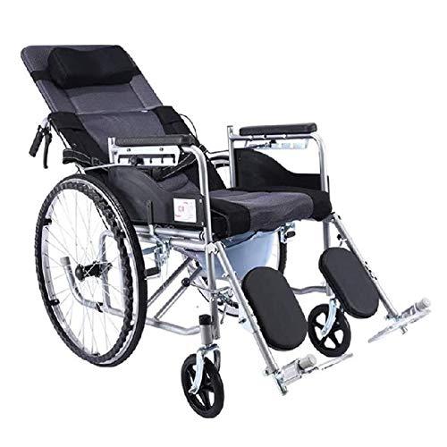 NOLLY Multifunktionsrollstuhl,für ältere Und Behinderte Menschen, Selbstfahren, Leichtgewicht, Pflegerollstuhl Mit Liegefunktion