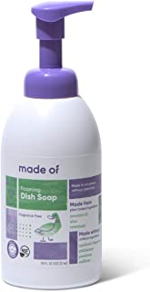 Foaming Organic Baby Dish Soap by MADE OF, Castile Dish Soap, For Baby Bottles, Dermatologist and Pediatrician Tested, NSF...