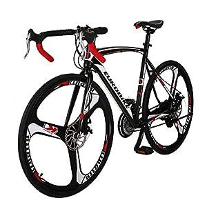 Eurobike Road Bike 700C Wheels 21 Speed Disc Brake Bicycle 54cm/Medium Frame Size (3 Spoke Wheels)