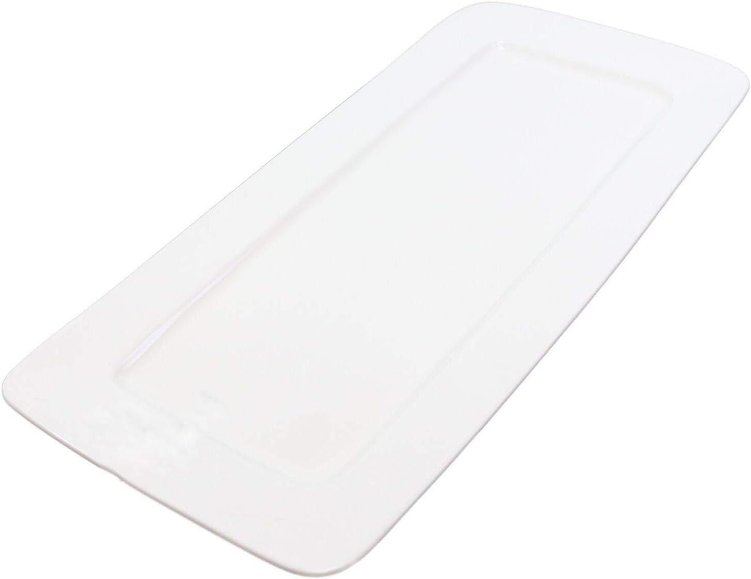 latest Contemporary Rectangular White Max 44% OFF Porcelain Serving Plate T Platter