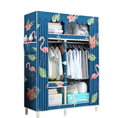 Einfacher Kleiderschrank Massivholzkleiderschrank 105 * 45 * 170 Einfacher Kleiderschrank (Farbe : D)