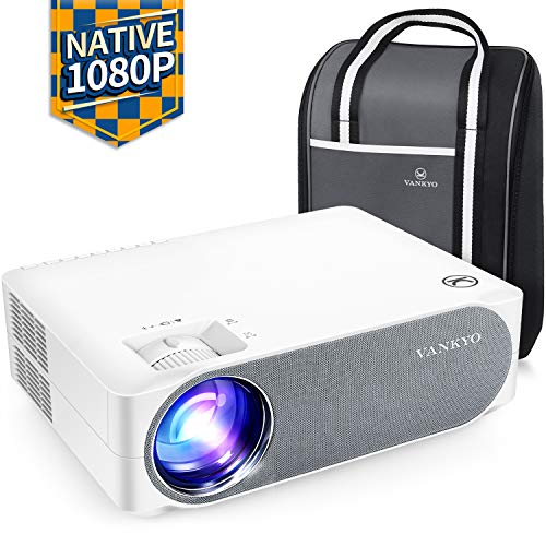 "VANKYO Videoproiettore 6800 Lumen, Proiettore 1080P Nativo Full HD Support 4K, Display da 300"" 50° Correzione, con Borsa Portatile, per iOS Android TV Stick Casa Ufficio PPT, Performance V630"