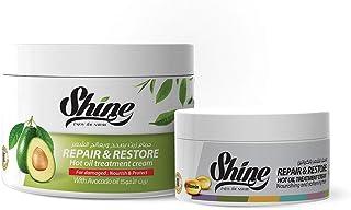 Shine Set of Keratin Hair Mask with Avocado 500 Ml + Keratin Mask 250 Ml