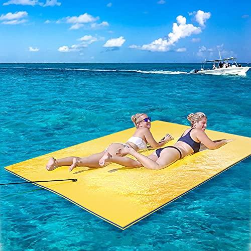 JSBVM Colchoneta Flotante de Espuma para Lago, Piscina, Playa, Resistente al desgarro 3 Capas de Espuma Xpe Flotante Colchoneta de Agua, Juguete de Fiesta Flotante para Adultos y Niños