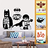 Batman Sticker Autocollant de Bande Dessinée Cartoon Sticker Mural Batman Enfant Cultiver Autocollant De Couloir De Club Robot Hero Sticker Mural