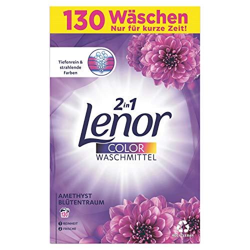 Lenor Waschmittel Pulver, Waschpulver Grosspackung, Color Waschmittel, 130 Waschladungen, Goldene Orchidee (8.45 kg)