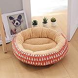MYYXGS Katze Und Hund Haustier Runde PlüSch Hundebett Donut Geformte Katze Bett 50 * 12Cm