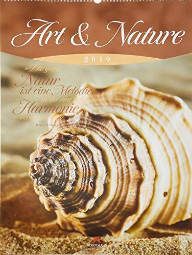 Art & Nature 2019, Wandkalender mit Zitaten im Hochformat (50x66 cm) - Lifestyle-Kalender mit Monatskalendarium